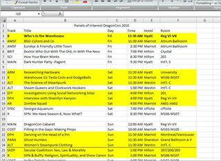 Schedule screen capture