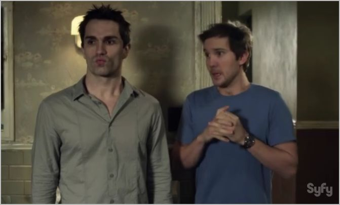 Being human, syfy, something to watch over me, josh and aidan