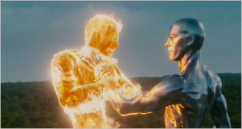 Fantastic four, rise of the silver surfer, johnny and surfer