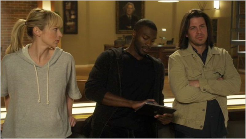 Leverage, 15 minute job, parker, hardison, and eliot