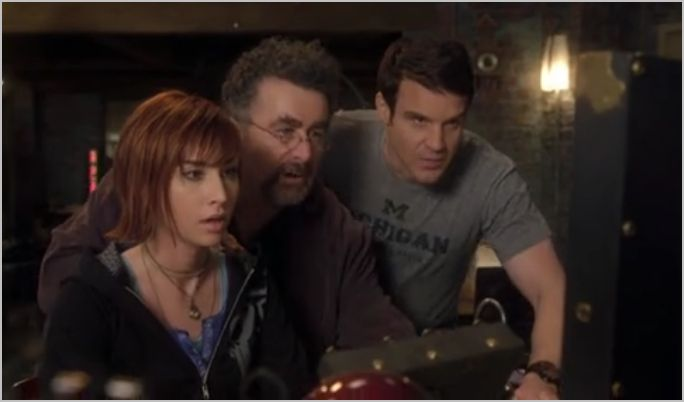 Warehouse 13, the new guy, claudia, pete and artie