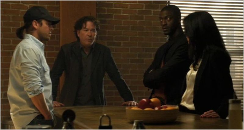 Leverage, experimental job, eliot, nate, hardison and sophie