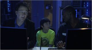 Leverage, hot potato job, nate, trevor and hardison