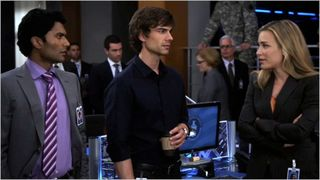 Covert affairs, sad professor, jai, auggie and annie