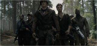 Captain america the first avenger, captain america and troops