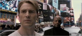 Captain america the first avenger, captain america and nick fury