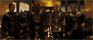 Thor, Hogun, Volstagg, Sif, and Fandral