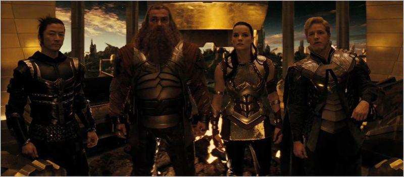 Thor, Volstagg, Hogun, Fandral, Sif