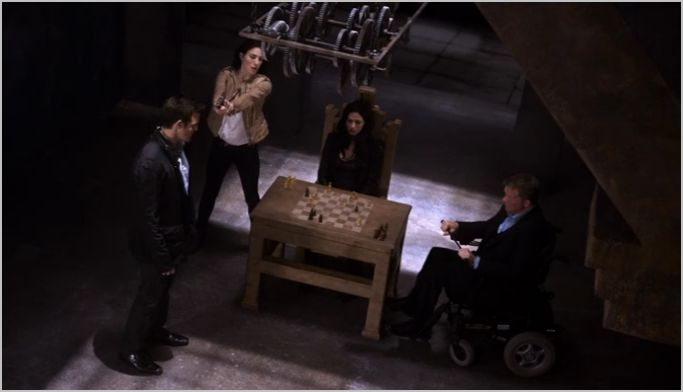 Warehouse 13, stand, pete, h.g., myka, sykes