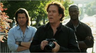 Leverage, the radio job, eliot, nate and hardison