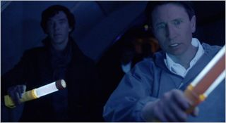 Sherlock, the reichenbach fall, sherlock and anderson