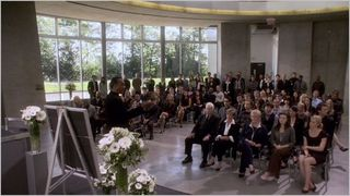 Eureka, ex machina, memorial service