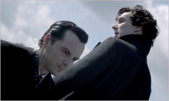 Sherlock, the reichenbach fall, sherlock and moriarty 4