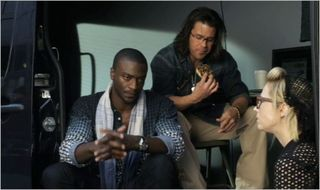 Leverage, the gold job, hardison, eliot, parker and doughnuts