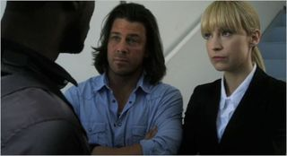 Leverage, the radio job, hardison, eliot and parker