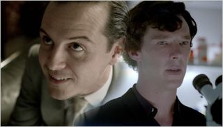 Sherlock, the reichenbach fall, sherlock and moriarty 3