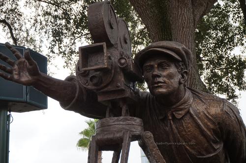 Filmmaker statue at hs bis
