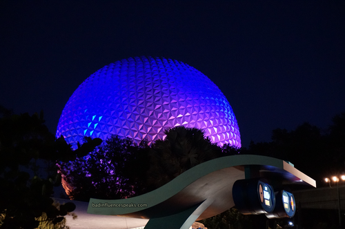 View of epcot ball from the seas bis